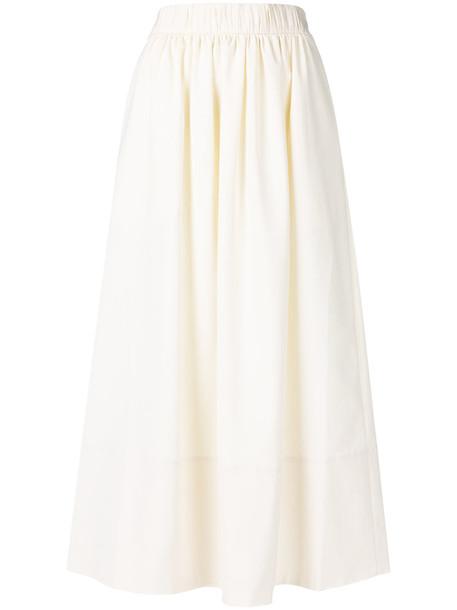 Tibi skirt women spandex white silk