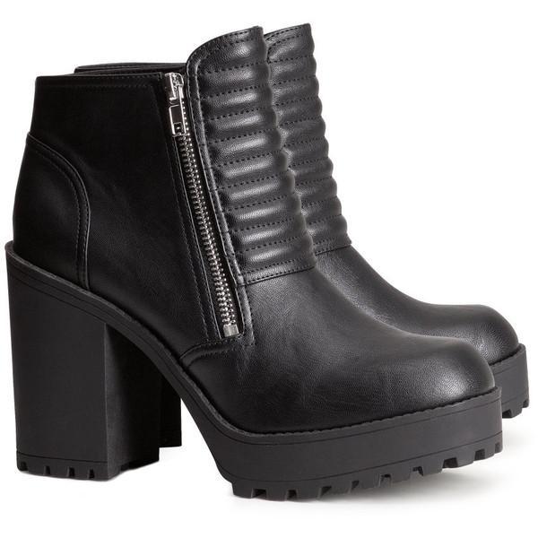 H&M Platform boots - Polyvore