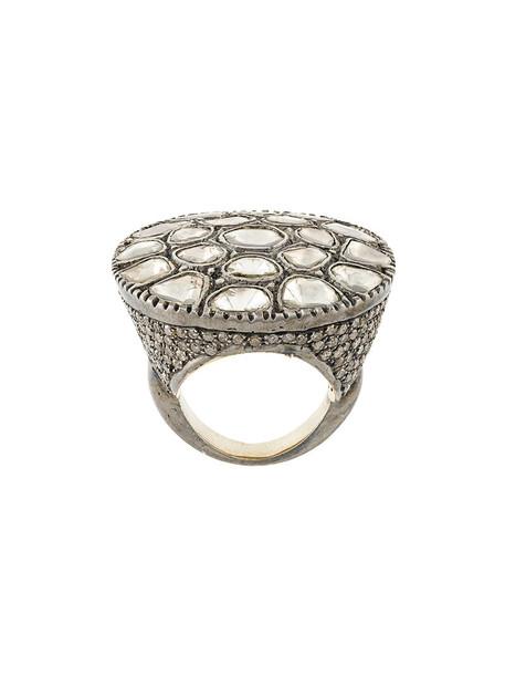 CHRISTIAN KOBAN diamond ring women ring silver grey jewels