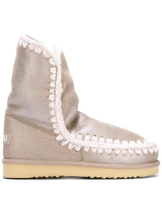 metallic women boots leather nude 24 shoes