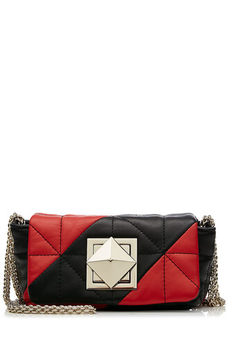 quilted bag shoulder bag leather multicolor