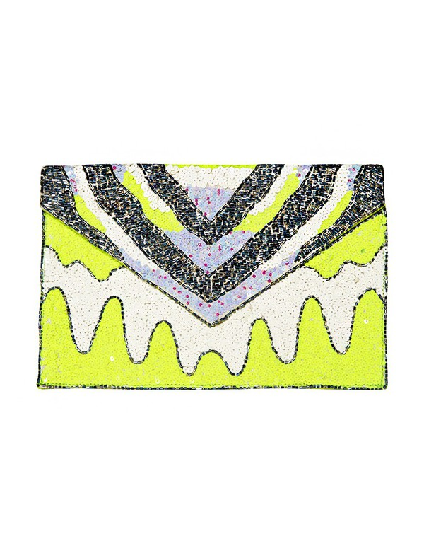 bag beaded clutch party clutch neon envelope clutch cute bags pixie market pixie market girl