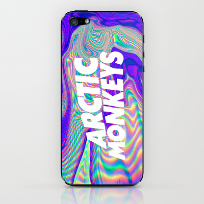 Psychedelic Arctic Monkeys Logo iPhone & iPod Skin by Julia | Society6