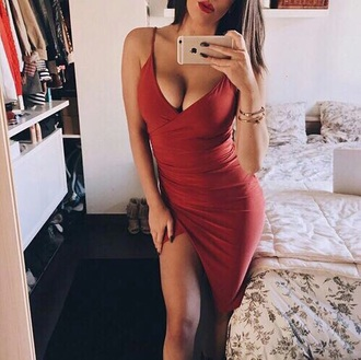 dress red short
