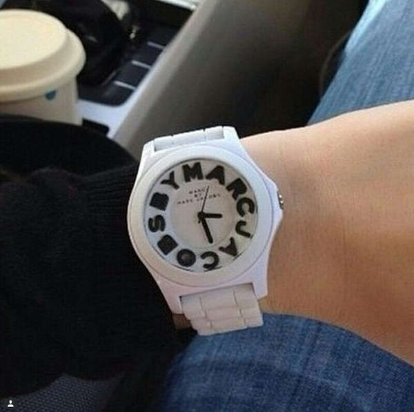 jewels marcjacobs watch white watch