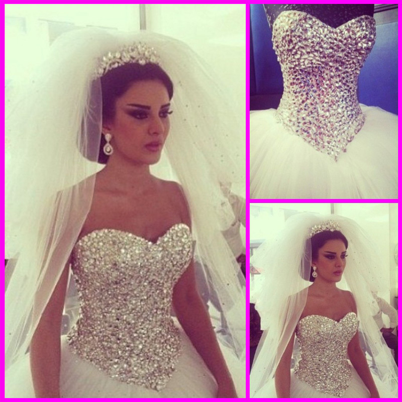 Aliexpress.com : Buy Real Photo Sexy Corset Wedding Gowns Sweetheart With Crystal Beaded Open Back Tulle Wedding Dresses White Custom Made from Reliable corset tank suppliers on 27 Dress