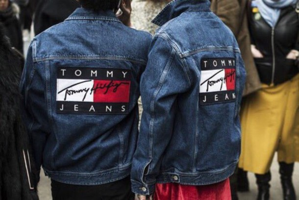 jacket, vintage, tommy hilfiger, denim jacket - Wheretoget