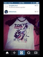 anime,tokyo ghoul,scary,manga,manga shirt,t-shirt