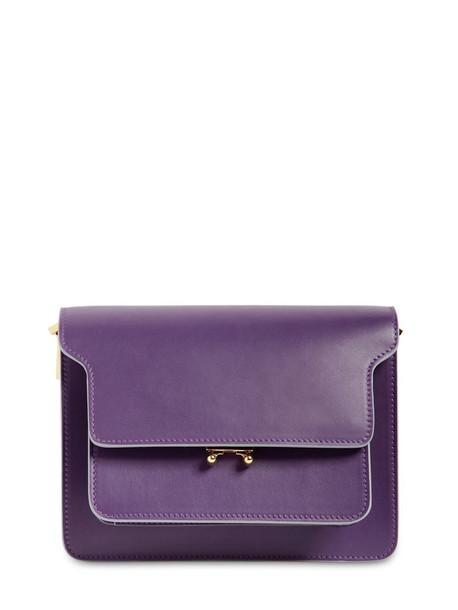 MARNI Medium Trunk Saffiano Leather Bag in purple