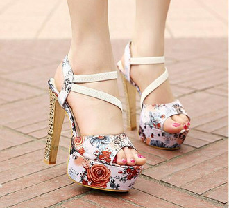 shoes high heel sandals roses cute high heels cute cute sandals heels pumps red high heels lace pink rose pretty white