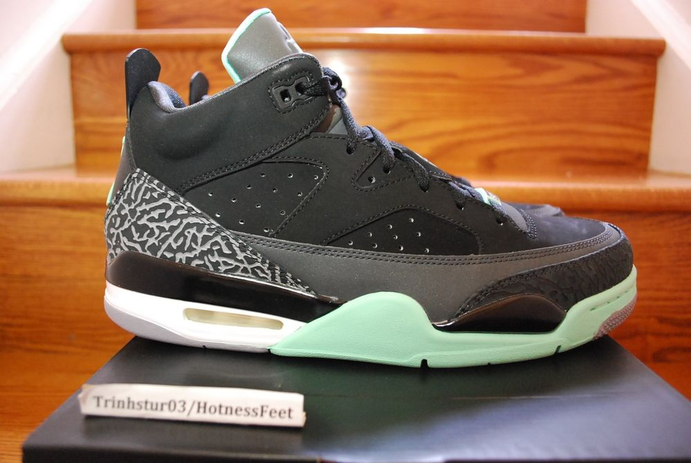 Nike Air Jordan Son of Mars Low Black Green Glow Anthracite Ceme 580603 030 2013 | eBay