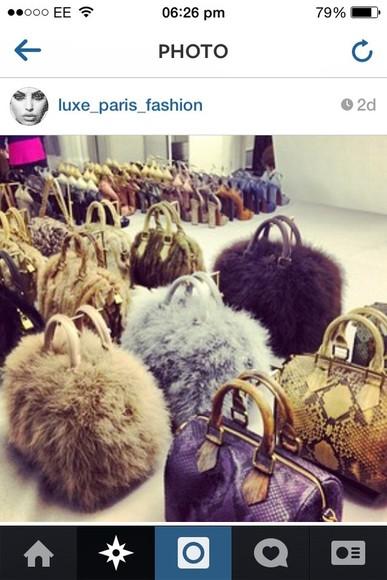 fur bag bag