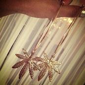 jewels,earrings,jewelry,hoop earrings,hoop,weed,marihuana,gold