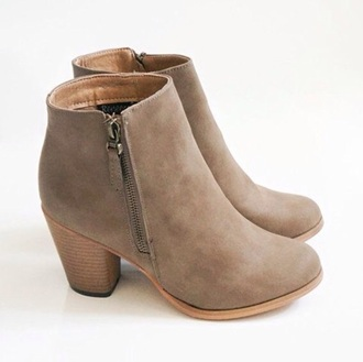 shoes beige shoes boots booties fashion ankle boots mid heel boots