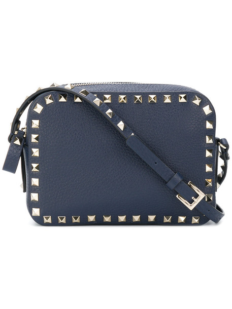 women bag shoulder bag leather blue