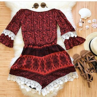 romper fashion cute sale spring break spring summer love aztec print bellexo