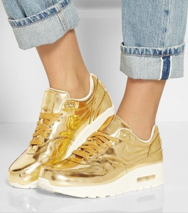 Nike Air Max 1 Sp In Liquid Gold Athletic Shoes