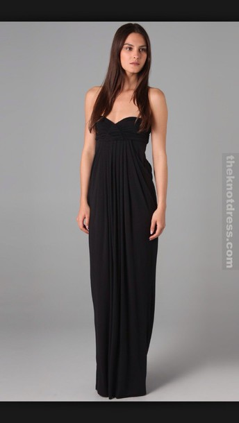 dress the knot dress dress prom black strapless