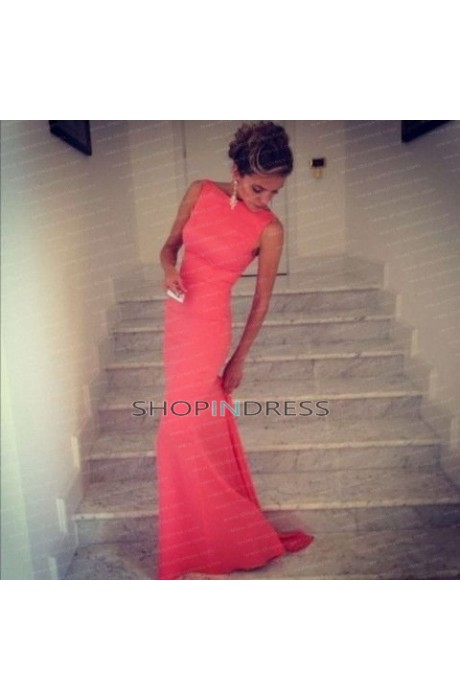 Mermaid/trumpet high neck floor length red prom dress with npd098097 sale at shopindress.com