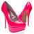 Womens Shoes Neon Pink Classic Round Toe High Heel Platform Stiletto Pump US 7.5   eBay