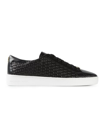 women quilted sneakers leather black shoes