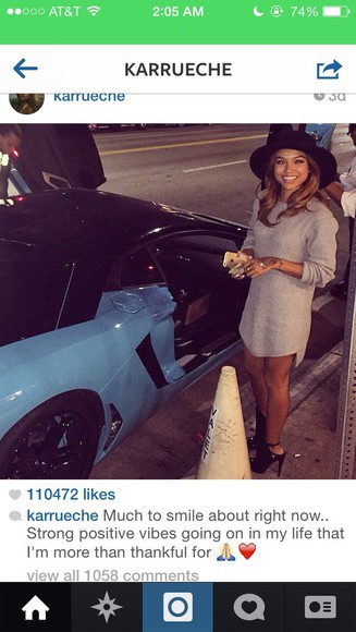 dress grey dress karrueche kae sweater sweater dress black hat