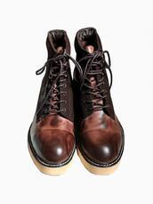 shoes,mens boots,bronze felt boots