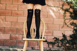 black romwe pants cats tights romwe tights
