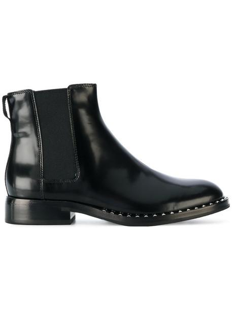 ASH women chelsea boots leather black shoes