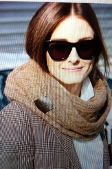 olivia palermo scarf brown scarf winter