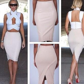 skirt tan skirt