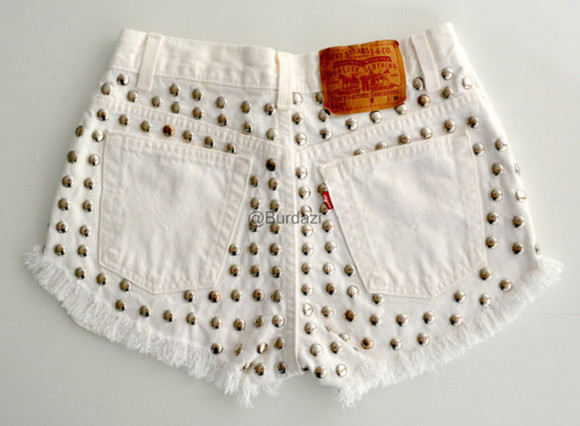 shorts high waisted short highwaisted shorts studs