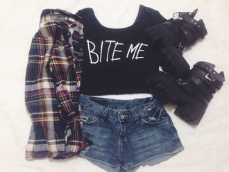 cardigan crop tops high waisted shorts high waisted jeans converse military boots black combat boots top