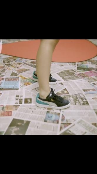 shoes teal black puma kreayshawn