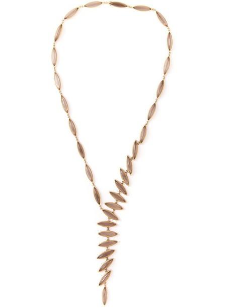 Antonio Bernardo women necklace gold grey metallic jewels