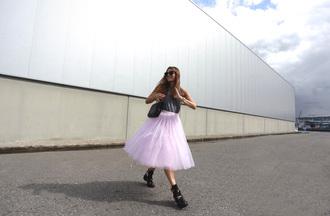 b a r t a b a c blogger top bag sunglasses tulle skirt skirt shoes underwear