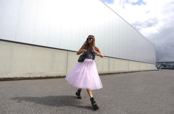 tulle skirt blogger sunglasses top bag b a r t a b a c