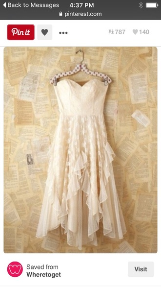 dress lace overlay free people cream dress