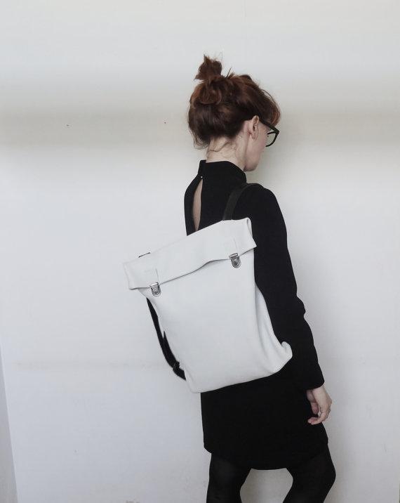 Minimaliste en cuir sac à dos / sac à dos de cuir / par byNizzo