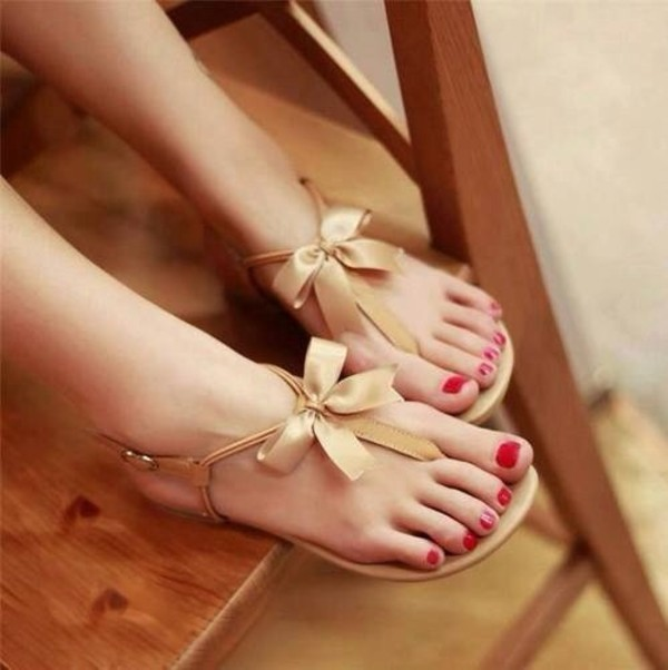 shoes summer gold favor