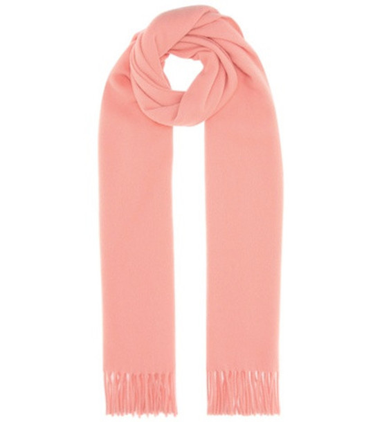 Acne Studios Canada wool scarf in pink