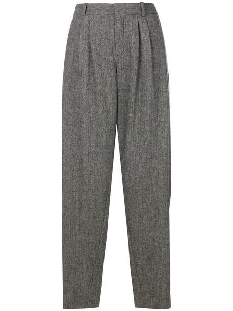 Chloe women spandex silk wool grey pants