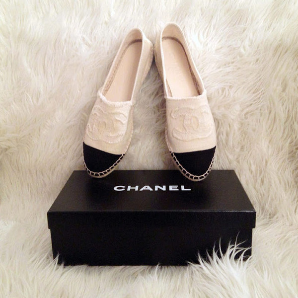 shoes espadrilles chanel black white chanel espadrilles
