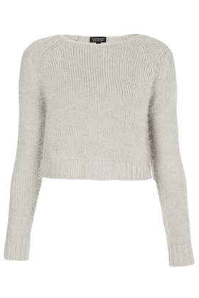 Knitted Fluffy Crop Jumper - Jumpers - Knitwear  - Clothing - Topshop
