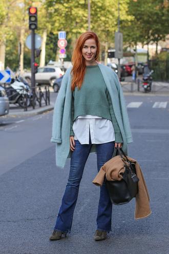 lindarella blogger jeans pastel green