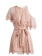 chiffon,embroidered,light pink,light,silk,pink,romper