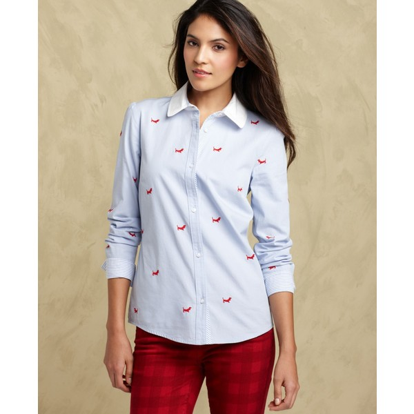 Tommy Hilfiger Shirt, Long-Sleeve Embroidered
