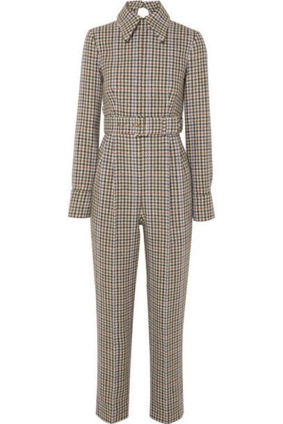 Emilia Wickstead - Rosa Cutout-back Houndstooth Tweed Jumpsuit - Gray
