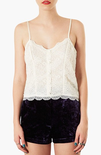 Topshop Button Detail Lace Camisole | Nordstrom