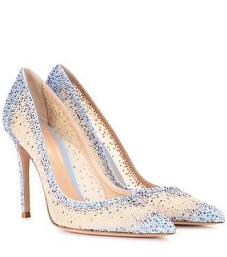 embellished pumps beige shoes
